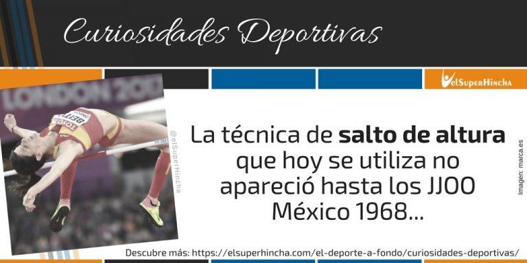 Evolución del Salto de Altura: El Salto Fosbury apareció en México 1968