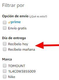 """Regalos de última hora en Amazon gracias la filtro """"Día de Entrega"""""""