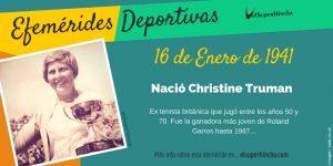 Efemérides del 9 de enero: Nació Christine Truman, tenista británica