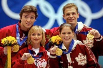 En Salt Lake City 2002, por primera vez en unos Juegos Olímpicos, se repitió una ceremonia de podio