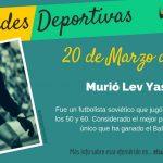 20 de Marzo: Murió Lev Yashin