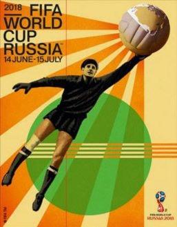 Lev Yashin aparece en el póster del Mundial Rusia 2018