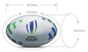 Medidas del Balón de Rugby