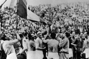 Celebración de Italia en el Mundial de 1934