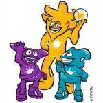 Ato, Kaz y Nik, las Mascotas del Mundial Corea y Japón 2002