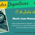 17 de Julio: Murió Juan Manuel Fangio
