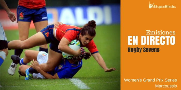 Rugby Sevens Femenino En Directo. Sevens Grand Prix Series, 1ª Ronda - Marcoussis