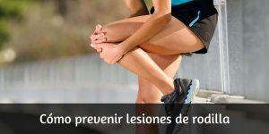 Cómo prevenir lesiones de rodilla en running