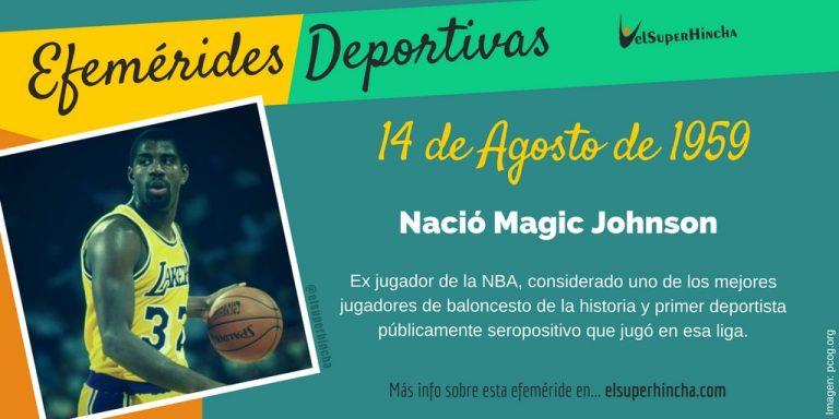 Efeméride del 14 de agosto. Nació Magic Johnson, exjugador NBA