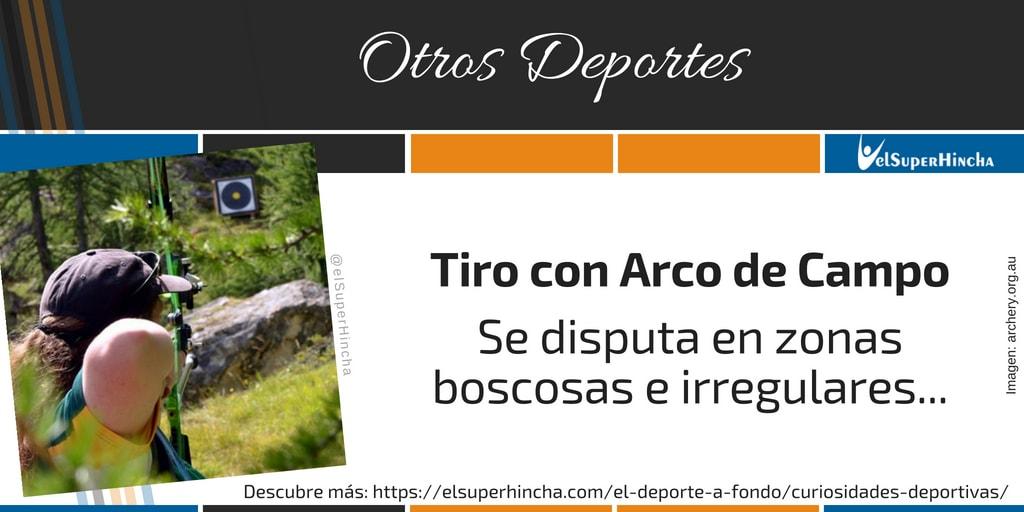 Tiro con Arco de Campo. Se disputa en zonas boscosas e irregulares...