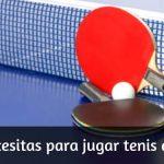 ¿Qué elementos necesitas para jugar Tenis de Mesa?