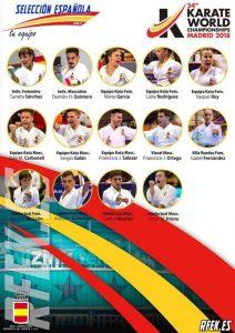 Mundial de Karate 2018: Equipo de España en Katas y Para-Karate