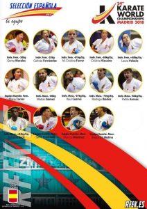 Mundial de Karate 2018: Equipo de España en Kumite