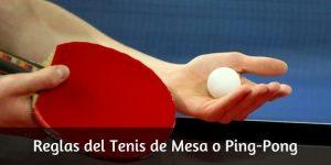 Reglas del Ping-Pong