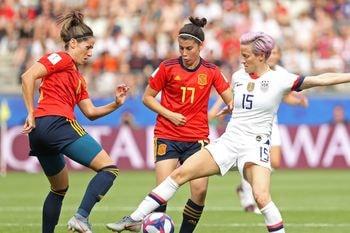 España - Estados Unidos en octavos de final del Mundial Femenino Francia 2019