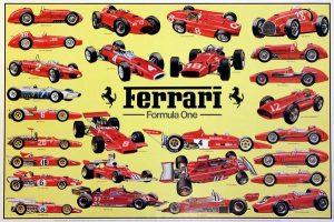 Modelos Históricos de Ferrari en F1. Es la escudería más antigua de la competición