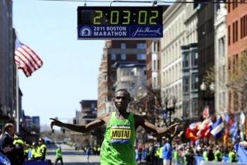 Geoffrey Mutai, ganador del Maratón de Boston 2011
