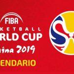 Calendario Mundial de Baloncesto China 2019