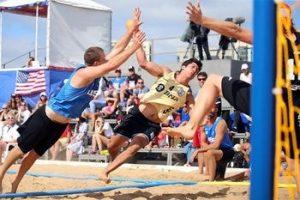 Tiro a Gol en Balonmano Playa o Beach Handball