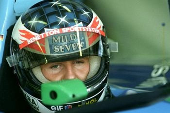 Michael Schumacher en Benetton