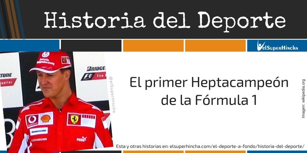 Michael Schumacher. El único heptacampeón de la Fórmula 1
