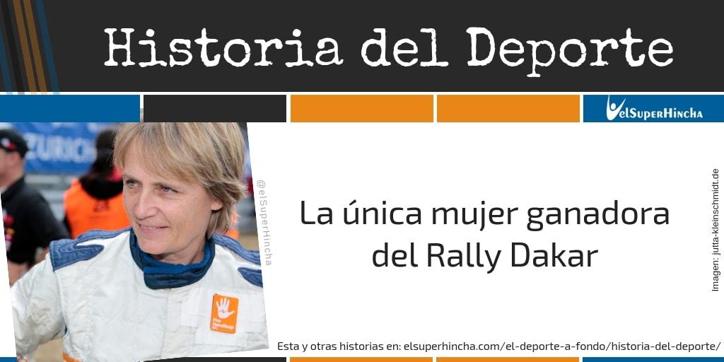 Jutta Kleinschmidt, la única mujer ganadora del Rally Dakar