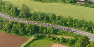 Vista aérea de la Carrera Cicloturista Terra Remences