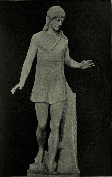 Escultura de una competidora de la Heraia