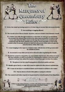 Cartel con las Reglas Queensberry