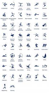 Lista de Deportes Olímpicos. Pictogramas Tokio 2020