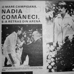 Reportaje sobre la ceremonia de retirada de Nadia Comăneci