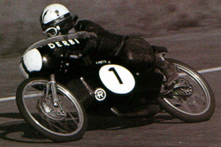 Angel Nieto. Fue el primer Campeón Mundial de Motos español