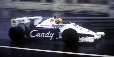 Ayrton Senna en Mónaco 1984, al volante de su Toleman