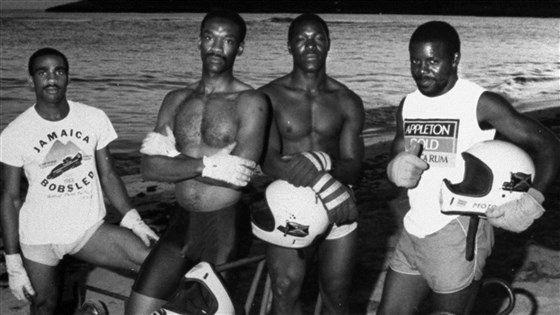 Componentes del primer equipo jamaicano de bobsleigh