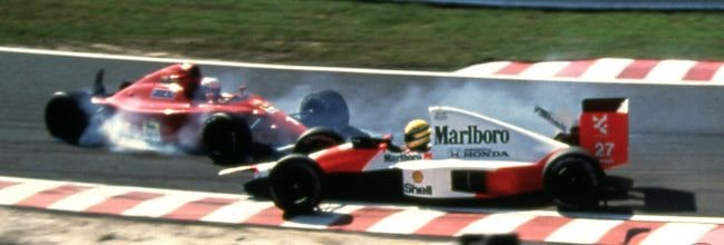 Accidente de Senna y Prost en Suzuka 1990