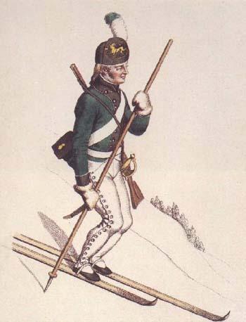 Ilustración de un Militar Noruego del siglo XIX
