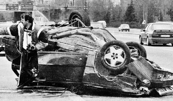Estado del coche tras el accidente de Fernando Martín