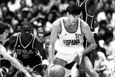 Fernando Martín durante la Final Olímpica de Los Ángeles 1984