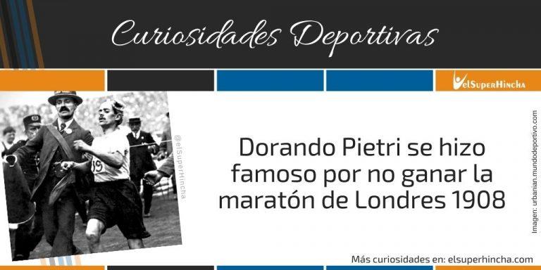Dorando Pietri se hizo famoso por no ganar la maratón de Londres 1908