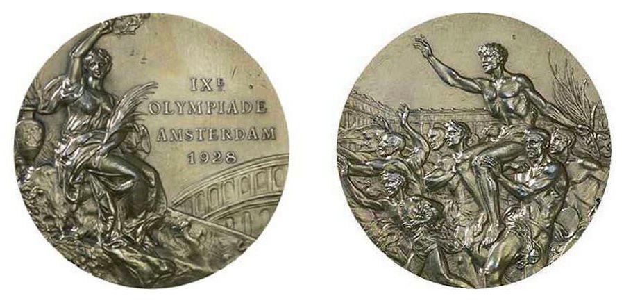 Trionfo, diseño elegido para las medallas olímpicas en 1928