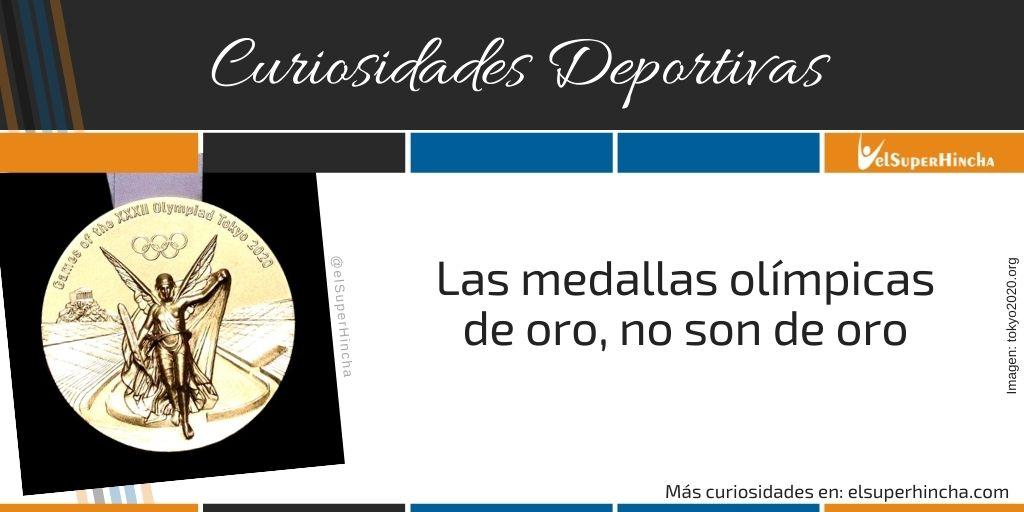 Las medallas olímpicas de oro, ¡no son de oro!