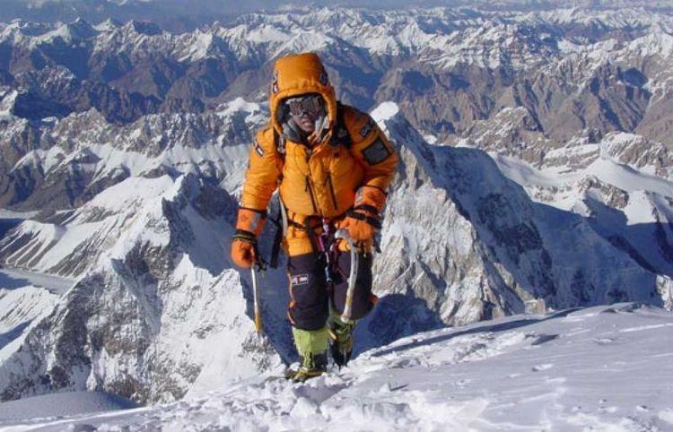 Edurne Pasabán en su ascenso al K2