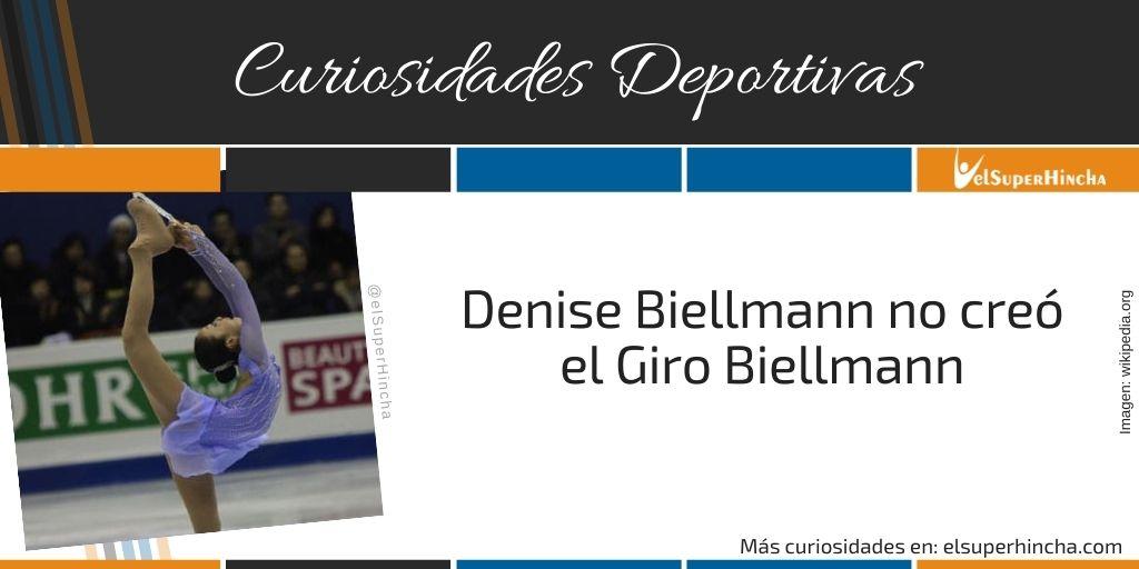 Denise Biellmann no creó el Giro Biellmann